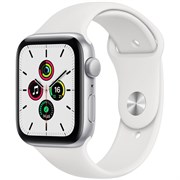 Apple Watch SE GPS 40mm Silver Aluminum Case with White Sport Band (Спортивный ремешок)