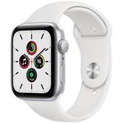 Apple Watch SE GPS 44mm Silver Aluminum Case with White Sport Band (Спортивный ремешок)