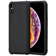 Усиленный чехол PITAKA MagCase PRO для iPhone Xs Max, чёрно/серый (полоска)