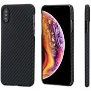 Чехол PITAKA MagCase для iPhone Xs, чёрно/серый (полоска)