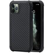 Усиленный чехол PITAKA MagEZ Case Pro для iPhone 11 Pro MAX, чёрно/серый (полоска)