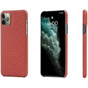 Чехол PITAKA MagEZ Case для iPhone 11 Pro MAX, красно/оранжевый (полоска)