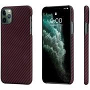 Чехол PITAKA MagEZ Case для iPhone 11 Pro MAX, чёрно/красный (полоска)