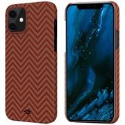 "Чехол PITAKA MagEZ Case для iPhone 12 mini 5.4"", красный/оранжевый (Red/Orange Herringbone)"