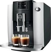 Кофемашина Jura E6 Platina EUR, черно-серый