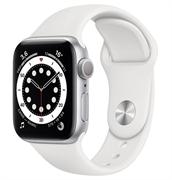 Apple Watch Series 6 GPS 44mm Silver Aluminum Case with White Sport Band (Спортивный ремешок белого цвета) M00D3