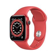 Apple Watch Series 6 GPS 40mm Red Aluminum Case with Red Sport Band (Спортивный ремешок красного цвета) M00A3