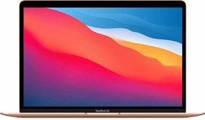 "Ноутбук РСТ Apple MacBook Air 13 M1 256Gb 2020 Gold (M1,13.3""/2560x1600/8GB/256GB SSD/Apple graphics 7-core/Wi-Fi/macOS)"