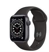 Apple Watch Series 6 GPS 44mm Space Gray Aluminum Case with Black Sport Band (Спортивный ремешок черного цвета) MG133