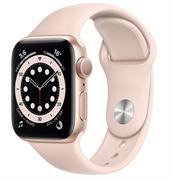 Apple Watch Series 6 GPS 40mm Gold Aluminum Case with Pink Sand Sport Band (Спортивный ремешок цвета розовый песок) M00E3
